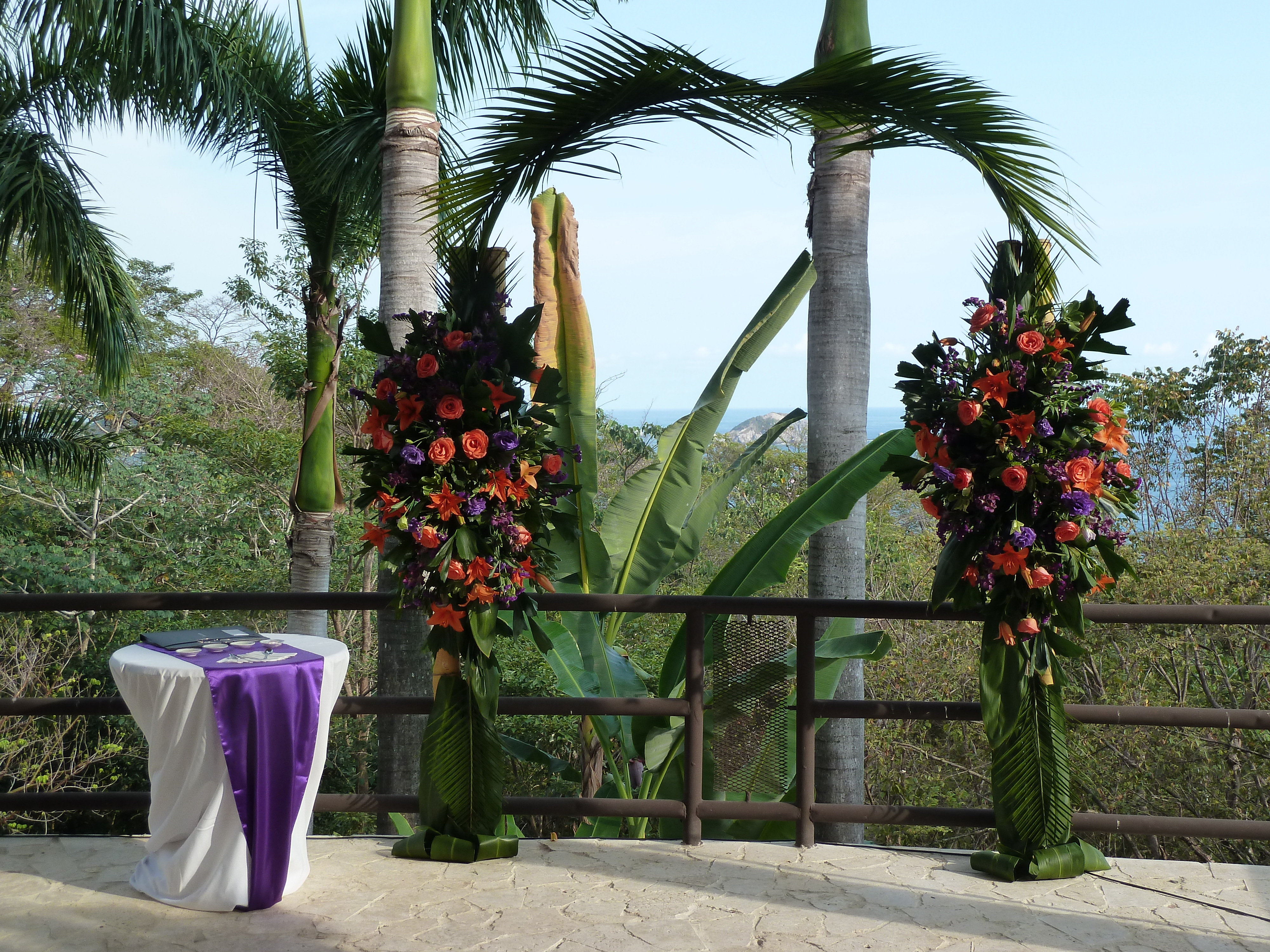 Ideas For Tropical Wedding Arches In Costa Rica