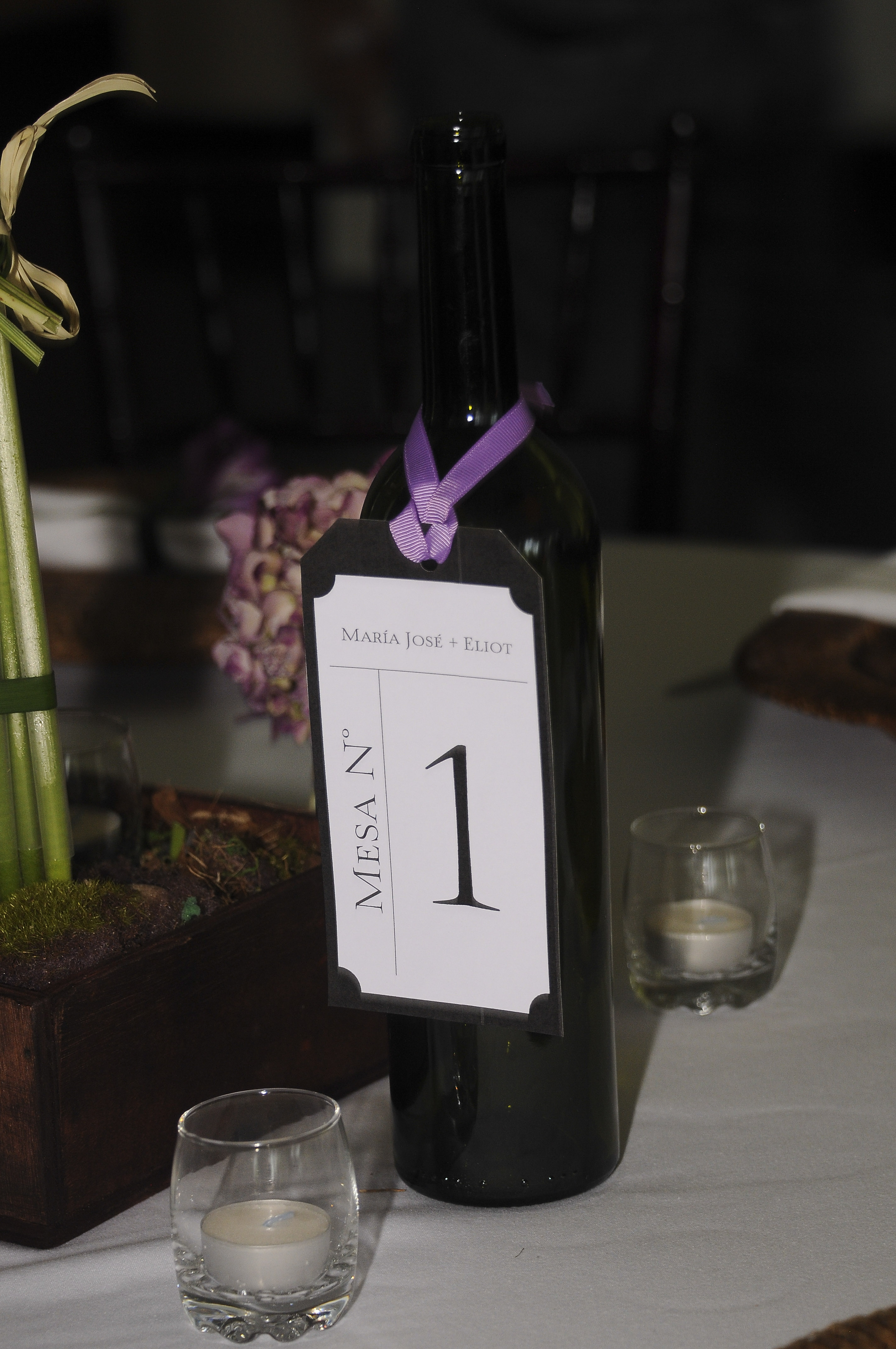 table numbers on wine bottle