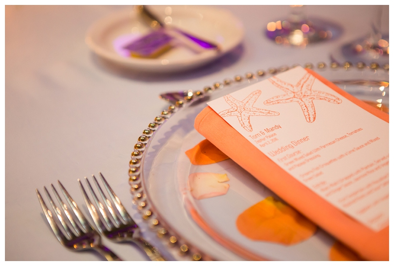 gold rimmed chargers with menu