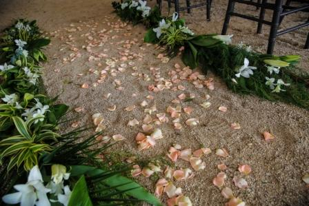 rose-petal-aisle-with-greenery