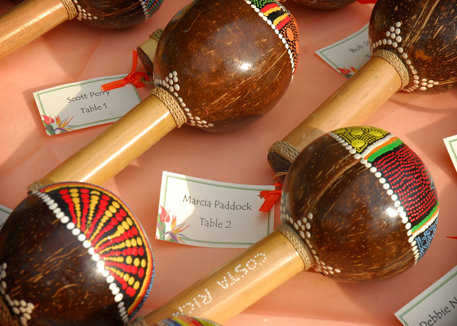 maracas with table numbers