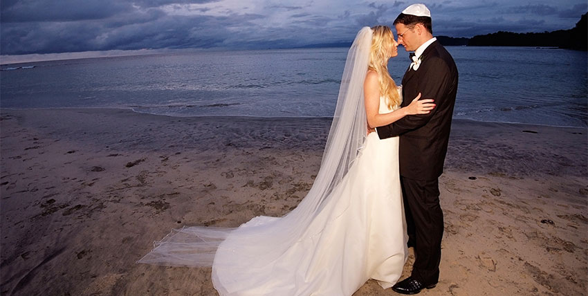 Jewish wedding ceremony and wedding in Costa Rica